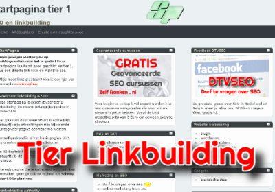 startpagina tier linkbuilding
