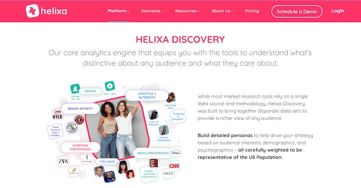 ai marketingtool helixa homepage