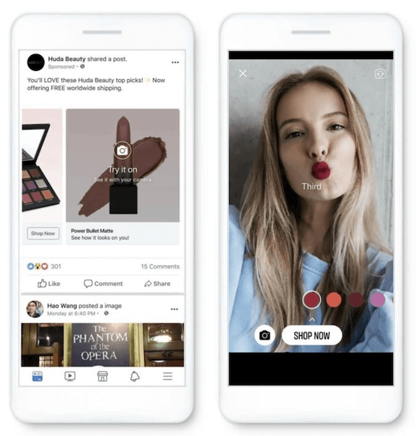 gepersonaliseerde Facebook Shopping-advertenties voorbeeld