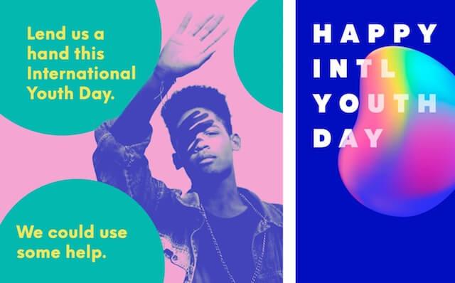 GoDaddy Studio-sjabloon voor internationale jongerendag
