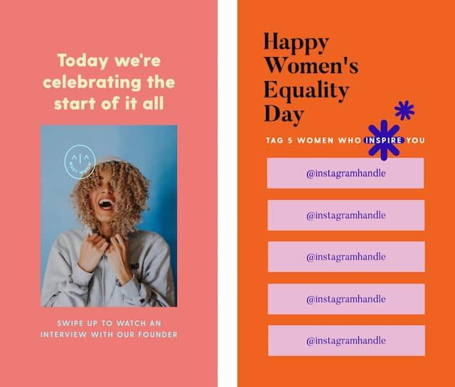 GoDaddy Studio-sjabloon ter ere van de dag van de gelijkheid van vrouwen