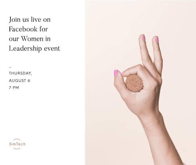 GoDaddy Studio-sjabloonadvertentie voor vrouwen in leiderschapsevenement