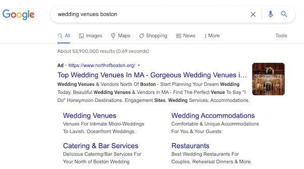 google ads afbeelding extensie voorbeeld