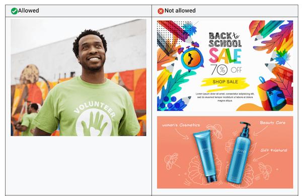 geaccepteerde versus niet geaccepteerde afbeelding voor afbeeldingsextensies voor Google-advertenties