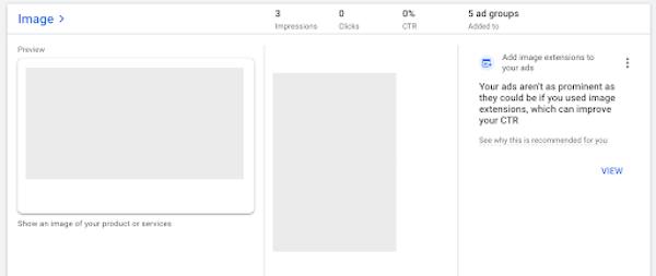 plaatsingsratio's van Google Ads-beeldextensies