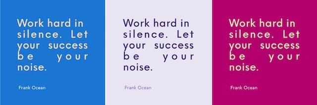 Repetitief letterontwerp van een citaat van Frank Ocean