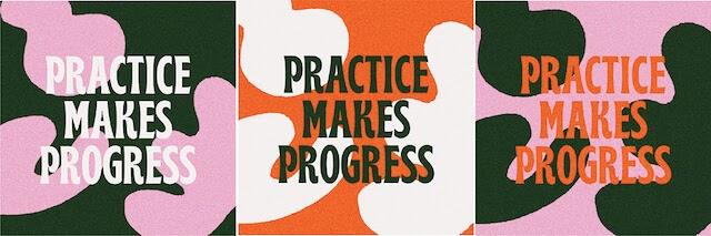 Oefening baart vooruitgang repetitief ontwerp