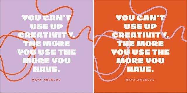 je kunt creativiteit niet opgebruiken Maya Angelou citaat
