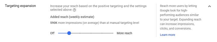 Uitbreiding van doelgroeptargeting voor Google-advertenties