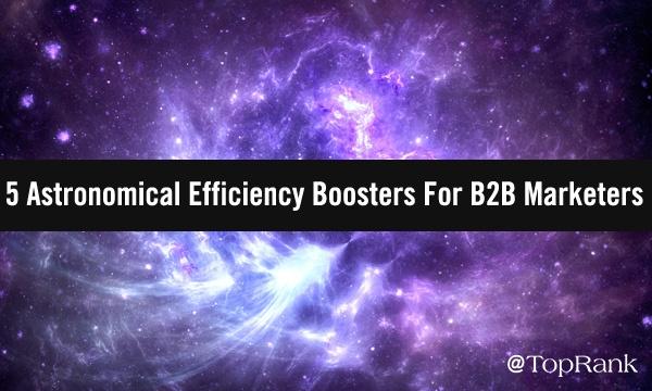 Paarse interstellaire melkweg van B2B marketing efficiëntie boosters afbeelding.