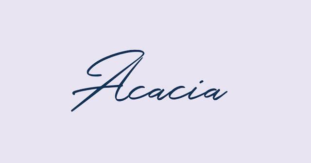 Cursieve Acacia