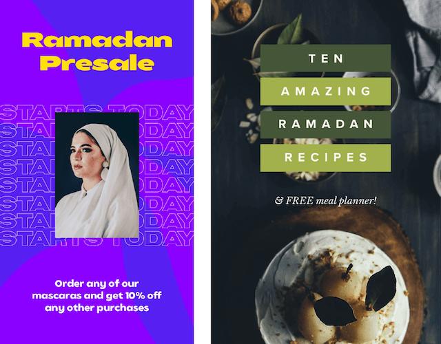 GoDaddy Studio-sjablonen gemaakt voor Ramadan