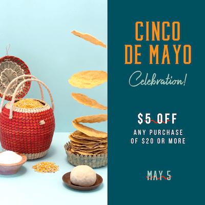 GoDaddy Studio-sjablonen gemaakt voor een Cinco de Mayo-feest