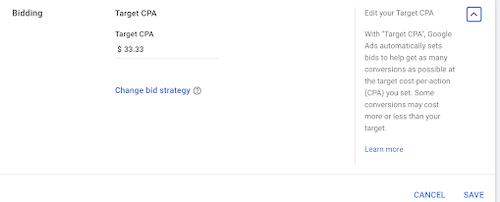 hoe u de CAC-bodinstellingen in Google-advertenties kunt verlagen