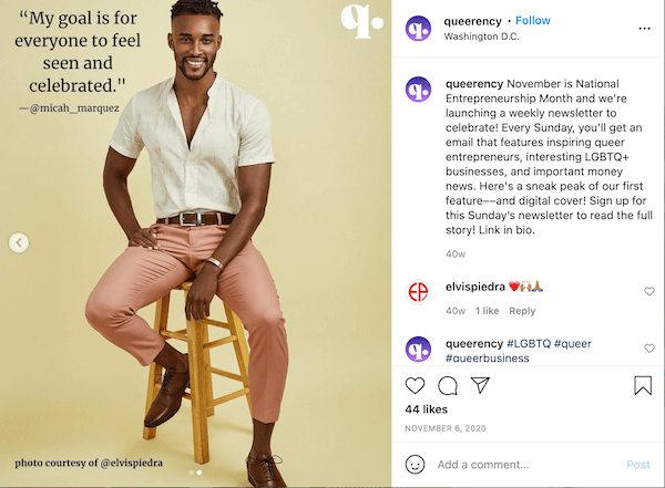 november instagram post met hashtag nationale ondernemerschap maand