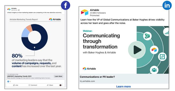 voorbeeld van consistente branding op facebook en linkedin