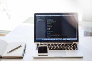 Codefragmenten Laptop