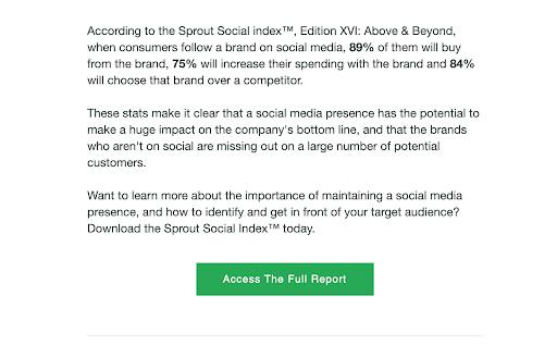 b2b e-mailmarketing voorbeeld - sprout social