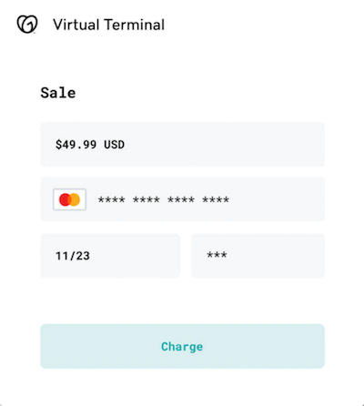 Virtuele terminal in GoDaddy Payments