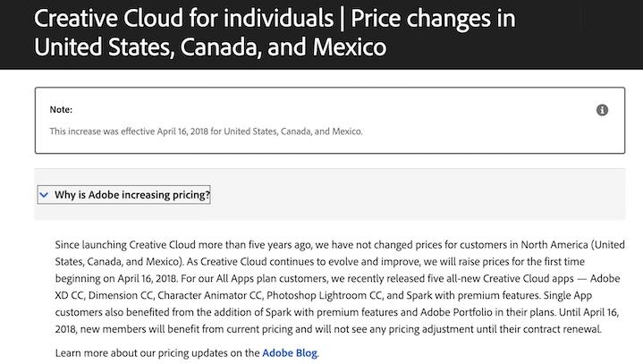 pagina met veelgestelde vragen over prijsverhoging