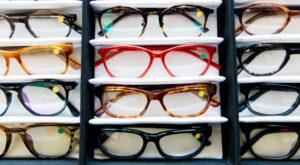 Leesbrillen tentoongesteld