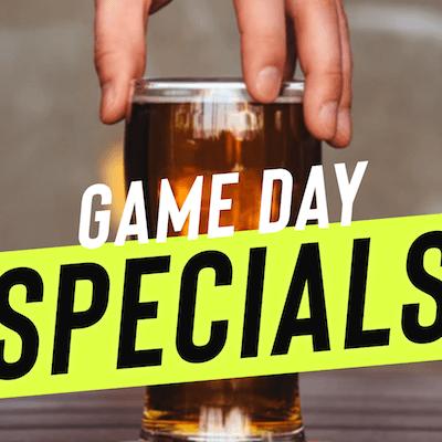 Game Day Specials met bier