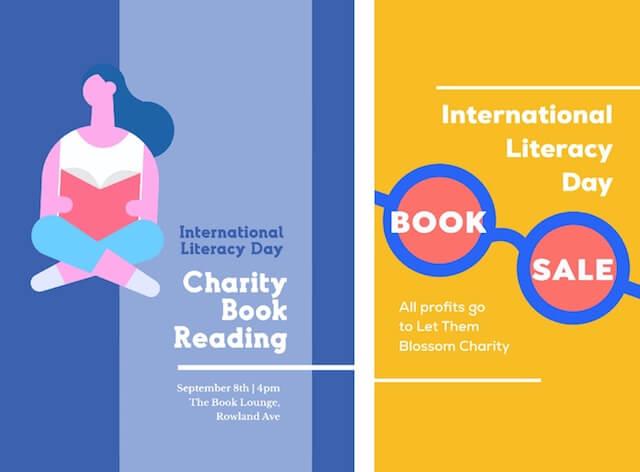 Sociale advertenties op Internationale Dag van de Alfabetisering met GoDaddy Studio