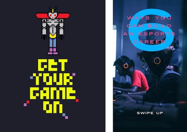 Social media-advertenties voor Nationale Videogames-dag