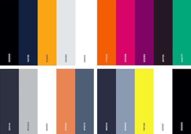 modern kleurenpalet