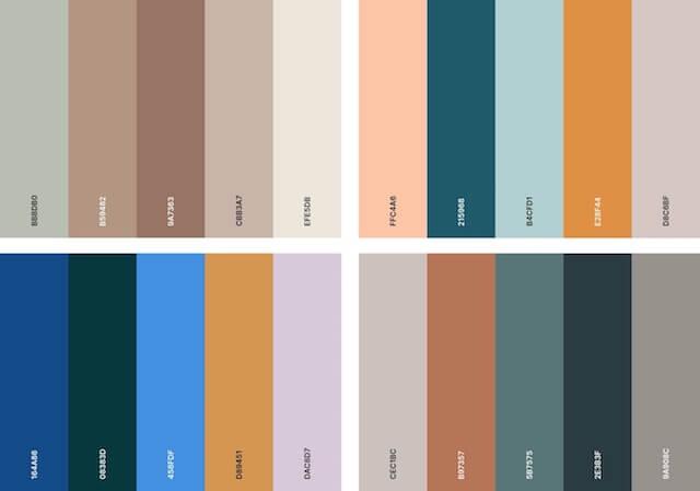 Organisch kleurenpalet