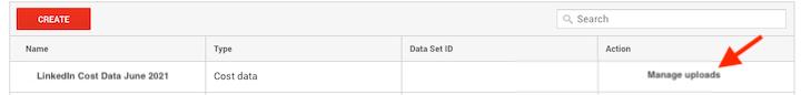 hoe u kostengegevens importeert in google analytics—uploads beheren