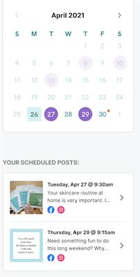 Bekijk geplande berichten in marketingplanner