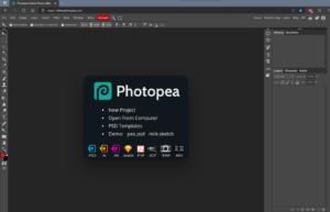 Photopea gebruiken voor afbeeldingen