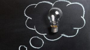 gloeilamp in een ideeënbubbel