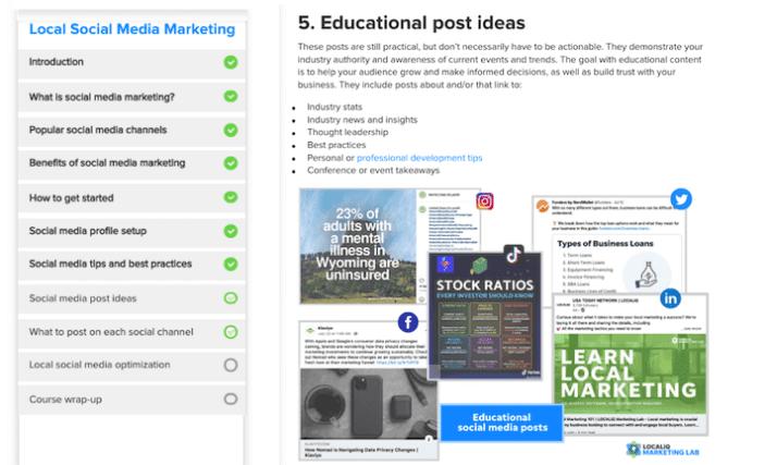 gratis cursussen social media marketing: localiq social media marketing lab