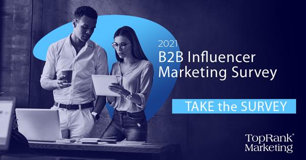 2021 TopRank Marketing B2B Influencer Marketing Enquête Afbeelding