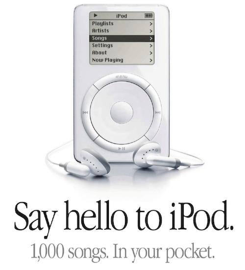 beste marketingcampagnes: lancering van apple ipod