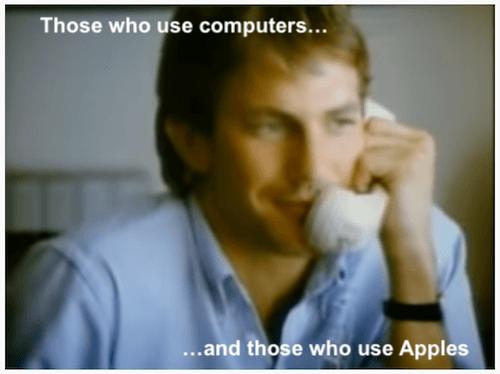 beste marketingcampagnes apple kevin costner