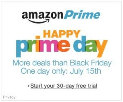 beste marketingcampagnes: amazon prime day