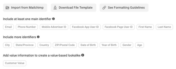 Facebook-advertentie gericht op iOS 14 privacy: klantenlijst doelgroep instellen