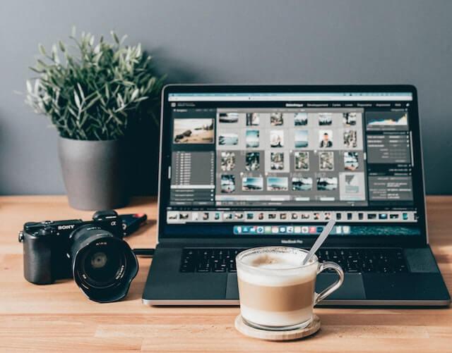 Afbeeldingen bewerken op laptop