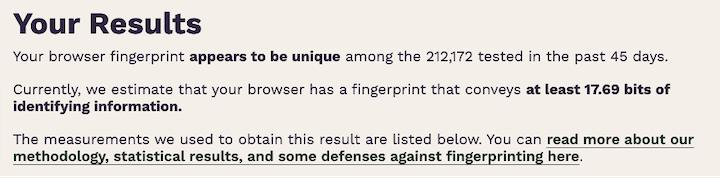 ggle floc- testresultaten voor vingerafdrukken van browsers
