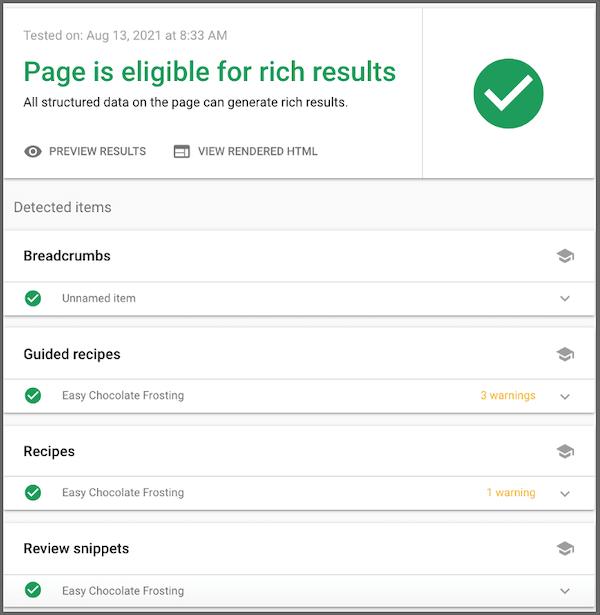 google search console pagina schema geschiktheidscontrole