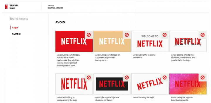 Voorbeeld van strategie voor klantbetrokkenheid: Netflix consistente branding