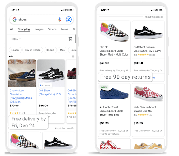 Google Ads-updates september 2021: nieuwe verzendkenmerken in Shopping-advertenties