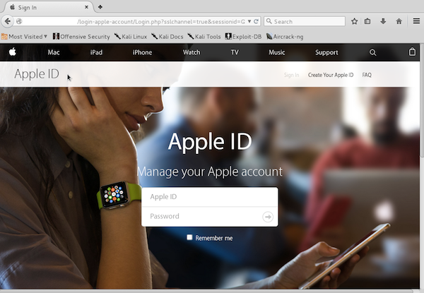 Valse Apple ID-aanmelding