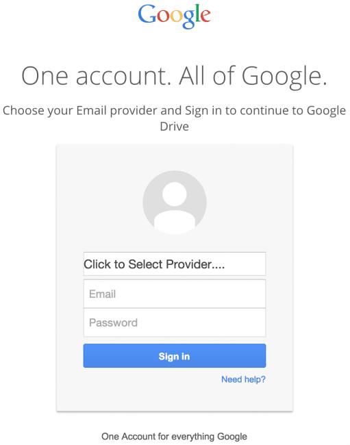 Valse Google Drive Phishing-links