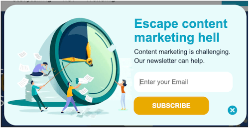 oproep tot actie zinnen en voorbeelden: ontsnap aan de hel van contentmarketing
