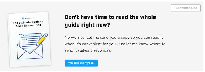 oproep tot actie zinnen en voorbeelden: duurt vijf seconden