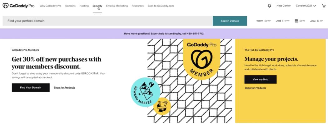 GoDaddy Pro-beveiliging